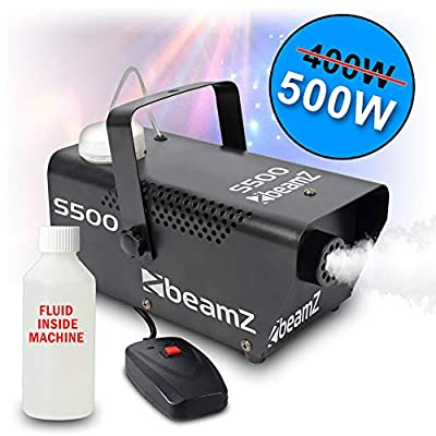 BeamZ S-500 Smoke Machine Fog Effect with Fluid and Remote Control DJ Disco Party