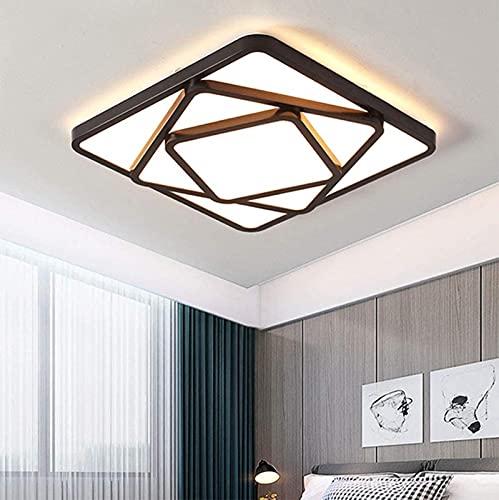 dfff Luces de Techo Sala de Estar Lámpara de Techo Regulable Moderna Lámpara de Dormitorio empotrada con Control Remoto 48W Des acrílico Cuadrado