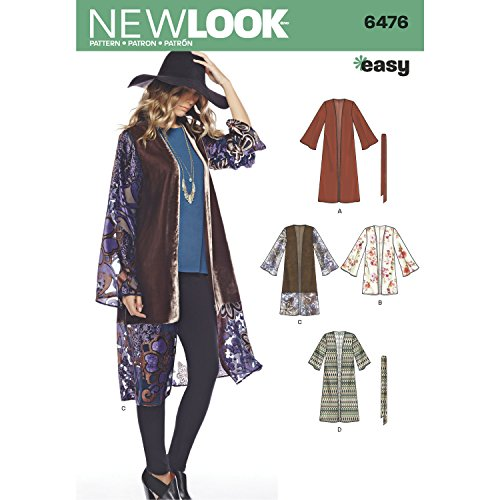 New Look Pattern 6476 Misses' Easy Kimono with Length and Sleeve Variation