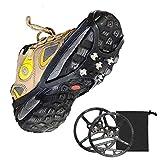 VZJSLT Cubierta Antideslizante De Zapatos Unisexo Crampones De Hielo Duraderos Fácil De Poner Y Despegar Ampliamente Utilizado 2 Pares