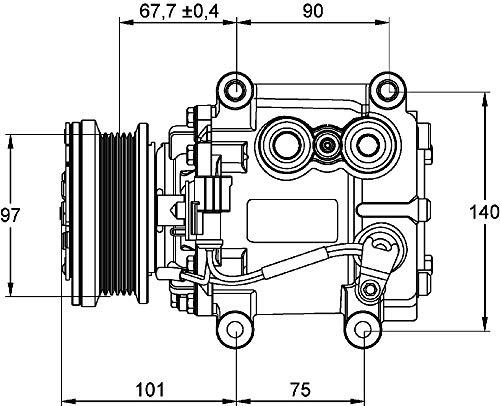 MAHLE ACP 1099 000P A/C-Kompressor BEHR PREMIUM LINE