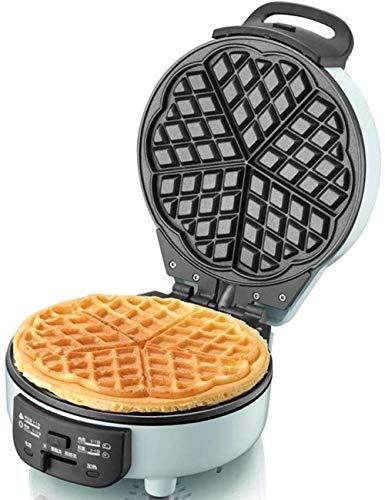 Mini-wafelijzer, tosti-ijzer, licht ontbijttoestel, draagbare ronde pannetje, met indicatieknop, geschikt voor thuisbakkerij, snackbar
