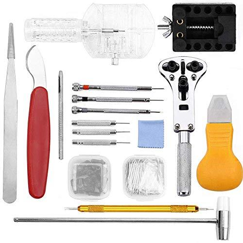 Uhrenreparaturset-Werkzeug - Professional 149-teiliges Reparaturwerkzeug Federstabset, professionelles Uhrmacher-Werkzeugset, Uhrenarmband-Werkzeugsatz mit Tragetasche für...