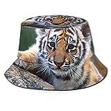 GodYo Bucket Hat Packable Reversible Cute Baby Tiger Print Sun Hat Fisherman Hat Cap Camping al Aire Libre