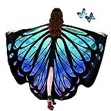 AWAYTR Women Butterfly Wings Shawl - Fairy Ladies Cape Halloween Dress Up Costume Accessory (Starry Sky)