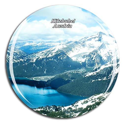 Weekino Österreich Kitzbühel Kühlschrankmagnet 3D Kristallglas Touristische Stadtreise City Souvenir Collection Geschenk Starker Kühlschrank Aufkleber