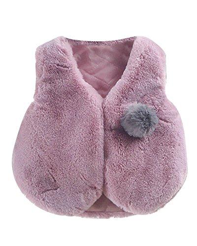 DianShao Chalecos para Bebés,Niña Cálido Ropa Felpa Chaquetas Outfits