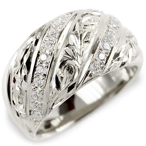 [アトラス]Atrus リング レディース pt900 プラチナ900 ダイヤモンド ハワイアンジュエリー 指輪 ピンキーリング 幅広 16号