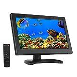 Eyoyo Moniteur 12 pouces 16 : 9 Écran TFT LCD HDMI HD Résolution à 1366 x 768 avec Entrée HDMI VGA BNC AV pour PC CCTV et Caméra Surveillance (Ecran 12 pouces 16:9 avec Télécommande)