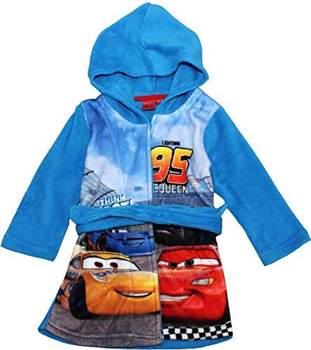 Cars Disney Pixar Jungen Bademantel Morgenmantel (98, Hellblau RH2060)