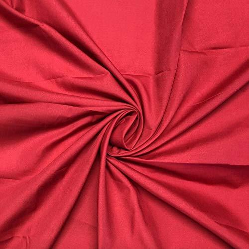 Bini Fabrics Poliéster liso de 114,3 cm de ancho, tela de poliéster, vino, se puede utilizar para vestidos, manualidades, etc. (2 metros)
