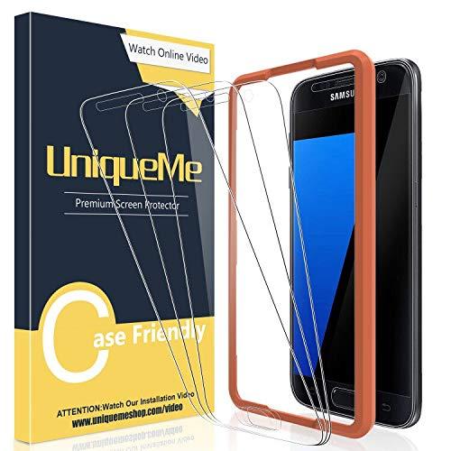 [3 Pezzi] UniqueMe Pellicola Protettiva per Samsung Galaxy S7 Con lo strumento di installazione, 9H Vetro Temperato Galaxy S7 Ultra Resistente [Bubble-Free] con Garanzia di Sostituzione a Vita