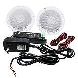 Herdio 4 pouces Kit Bluetooth Haut-Parleur De Plafond Amplificateur Bluetooth...
