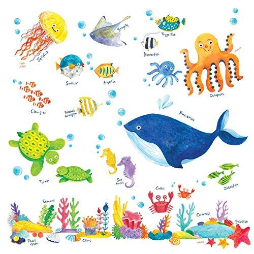 DECOWALL DW-1301AC-2 12 Montgolfi/ères dans le Ciel Autocollants Muraux Mural Stickers Chambre Enfants B/éb/é Garderie Salon