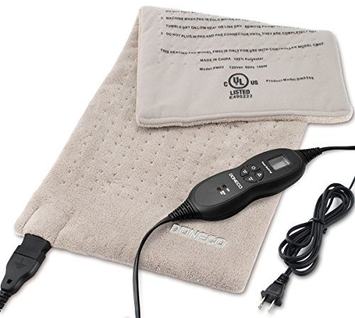 DONECO King Size Heating Pad(22' x 22'), Electric Foot Warmer with 4 Temperature Settings and...