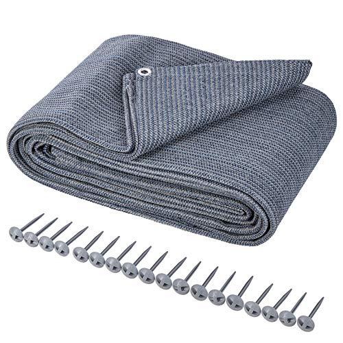 ONVAYA® Alfombra para tienda de campaña | suelo para camping | alfombra de toldo para caravana | alfombra de tienda | alfombra robusta | base lavable para tienda de campaña en azul/gris (300 x 600 cm)