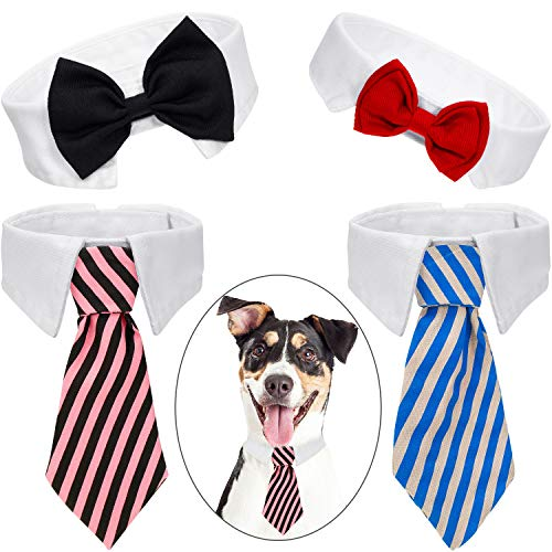 KAEHA SUN-054-00 Flores Collar para Perros Encantos para Mascotas Accesorios para Gato Cachorro Bowtie-Decoraci/ón de Aseo Rojo