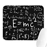 Schwarz Benutzerdefinierte mathematische und physikalische Formeln Riesige rutschfeste Basis Pro-Spielmatte Maus Home-Office-Arbeit Schreibtisch Computerzubehör Laptop Mauspad