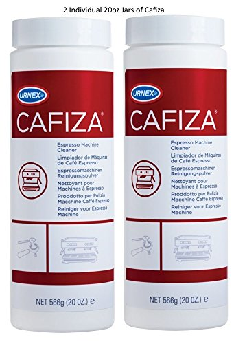 Urnex Cafiza Espresso and Coffee Machine Cleaner Powder - 20 Ounce - Bottle 2 Pack - Professional Coffee Cleaning System