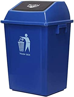 ZXJshyp Large Trash Can, Outdoor/Mall/Restaurant/Flip Plastic Square Tube Trash Can Cleaning Box Family Flip Garbage Bin S...