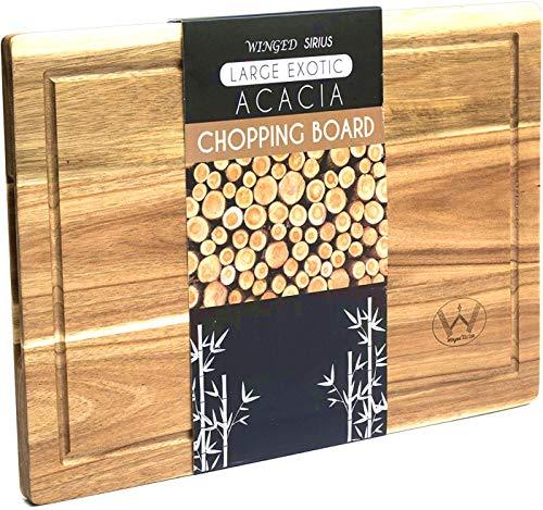 Tabla de cortar de madera de acacia