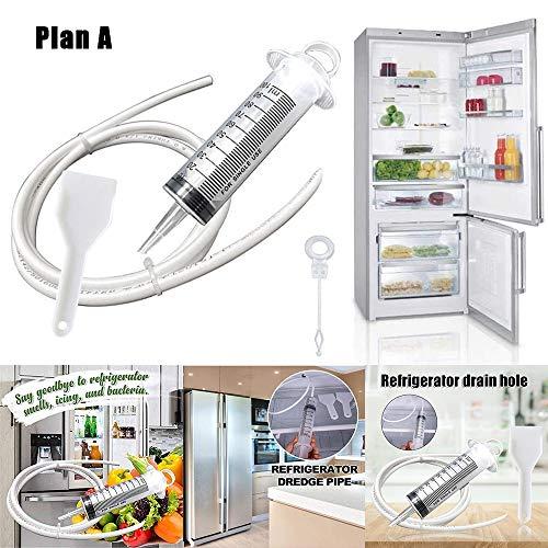 DHHSUK Kühlschrank Abflusslochentferner, Abflussreiniger Sticks, Clog Remover Reinigungswerkzeuge Einfach zu bedienen Stark und langlebig, Leicht zu reinigen, Wiederverwendbar (1 Set,plan A)