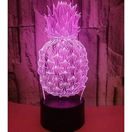 ARMAC 3D-Nachtlicht, Ananas, Hologramm-Illusion, Tischlampe, Farben Chaning, Heimdekoration, Geburtstagsgeschenk