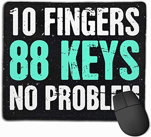 Lustige Pianist Piano Quote Mouse Pads rutschfeste Gaming Mouse Pad Mousepad