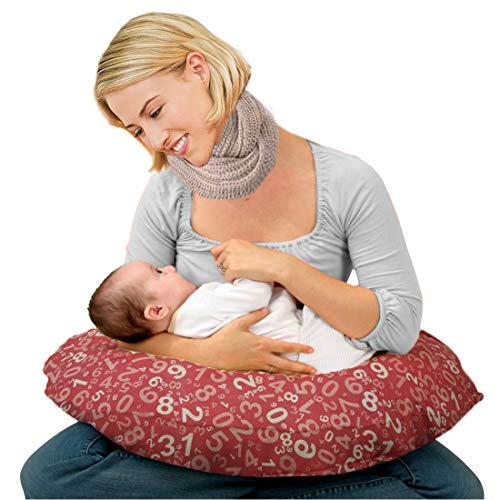 Kradyl Kroft 5in1 Baby Feeding Pillow with Detachable Cover (Einstein Pink)