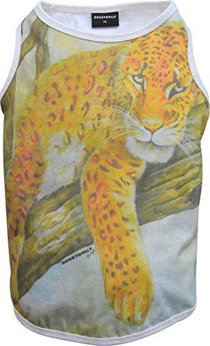 Doggy Dolly T558 hondenshirt schilderij Jaguar, wit, M Brust 41-43cm, Rücken 28-30cm