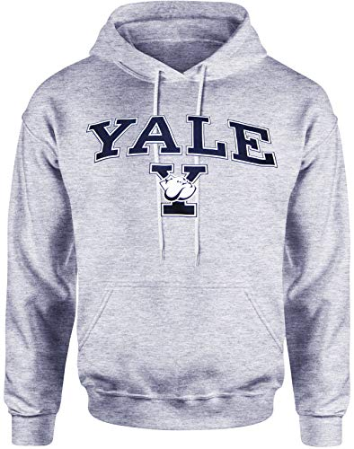 Yale pour homme Sweat à capuche université T-shirt Bulldogs Fanion Chapeau Apparel - Gris - X-Large