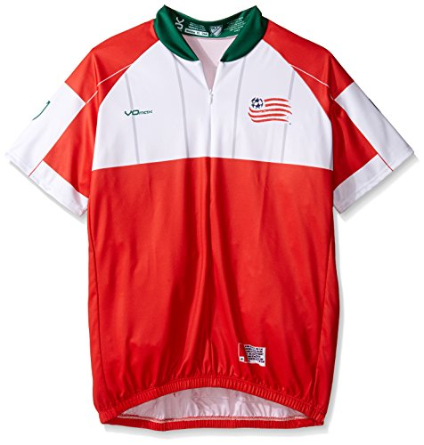 MLS New England Revolution Women's Secondary Short Sleeve Cycling Jersey, Small, Red