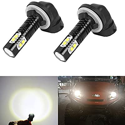 Golf Cart Light halogens Replacement LED Headlight Bulb Kits Fit EZGO (1994-Up) Gas and Electronic, Club Car DS (1999+),(2004+) Precedent Electronic, Nasibo (2 PCS)