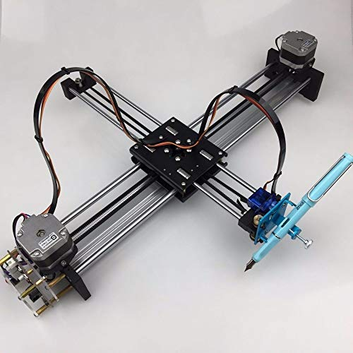 WNJ-TOOL, 1set Assembled A4 Metallversion Drawbot iDraw Masters Beschriftung Roboter XY-Plotter Zeichnung Roboter-Bausatz (Größe : AssembledDrawbot Set)