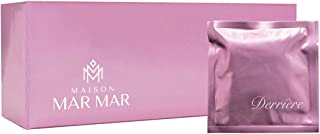 Maison Mar Mar Derrière Wipes for Women, 30 Individually Wrapped Luxury Feminine Flushable Wet Wipes for Travel, Biodegrad...