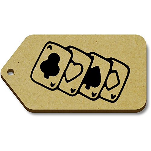 Azeeda 10 x 'Kartenspielen' 66mm x 34mm Hölzerne Tags (TG00074385)