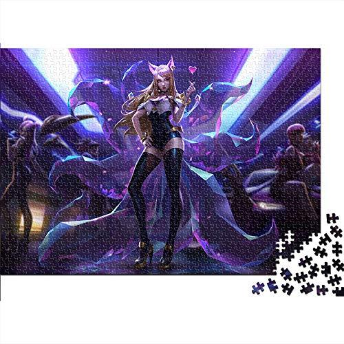 Rompecabezas clásico ARI Rompecabezas de Pintura Intelectual para niños League of Legends LOL Juego Juegos de Habilidad para Toda la Familia, Juegos de diseño Colorido 38x26cm