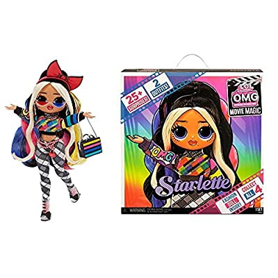 LOL Surprise OMG Movie Magic Starlette Fashion Doll with 25 Surprises Including 2 Fashion Outfits, 3D Glasses, Movie Accessories and Reusable Playset – Great Gift for Girls Ages 4+ by MGA Entertainment