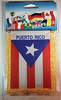 Souvenir Destiny Puerto Rico Flag Rear View Mirror Mini Banner 4