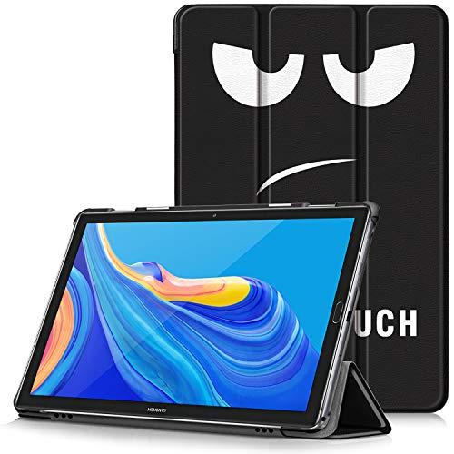 """TTVie Funda para Huawei MediaPad M6 10.8, Carcasa Ultra Delgado y Ligero con Cubierta de Soporte y Función Auto-Sueño/Estela para Huawei MediaPad M6 - Tablet 10.8"""" Modelo de 2019, Ojos Grandes"""