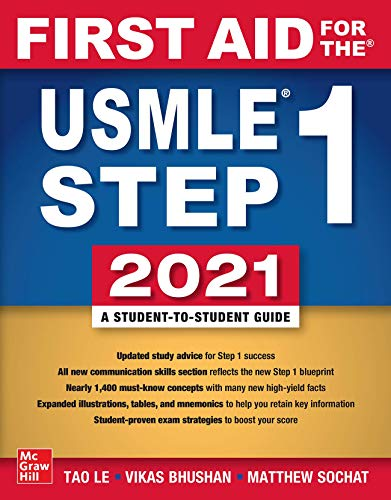 Compare Textbook Prices for First Aid for the USMLE Step 1 2021, Thirty First Edition 31 Edition ISBN 9781260467529 by Le, Tao,Bhushan, Vikas