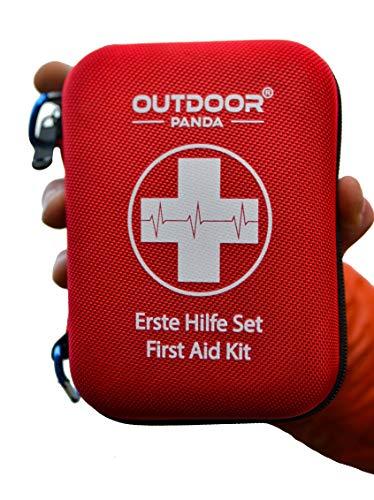 *Notfall Erste Hilfe Set mit Inhalt aus Deutschland nach DIN 13167 + Notfallbeatmungshilfe + Burnshield-Gel für Brandwunden*