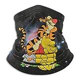 XXUU Winnie The Pooh Anime Divertido Mascarilla Unisex Multifuncional Protector de Cuello de Microfi...