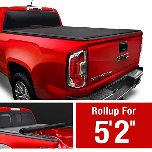 "MaxMate Soft Roll Up Truck Bed Tonneau Cover Compatible with 2015-2018 Chevy Colorado/GMC Canyon | Fleetside 5'2"" Bed"