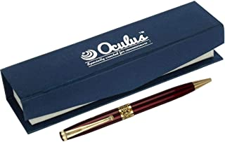 Oculus Impact -0757 Red & Golden Combination metallic Ball Pen. Fitted with Germany Made Refill.