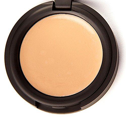Shimarz Concealer Cream Compact Makeup Full Coverage Color Corrector Best for Under Eye Dark Circles, Spots, Acne, Blemishes, Rosacea, Sensitive Skin - Fresh