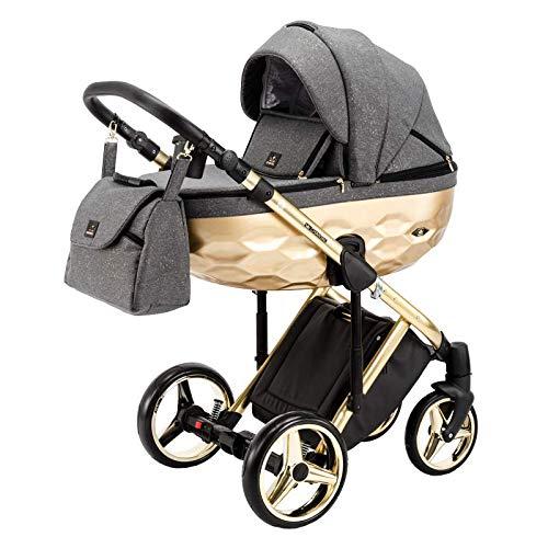 Original Adamex Chantal STAR Reisesysteme Kinderwagen 2in1 3in1 4in1 + Sonnenschirm + Originalzubehör Exclusive Prams (4in1, Star 1)