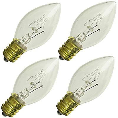 Industrial Performance 10C7/CL 120V, 10 Watt, C7, Candelabra Screw (E12) Base Light Bulb (4 Bulb)