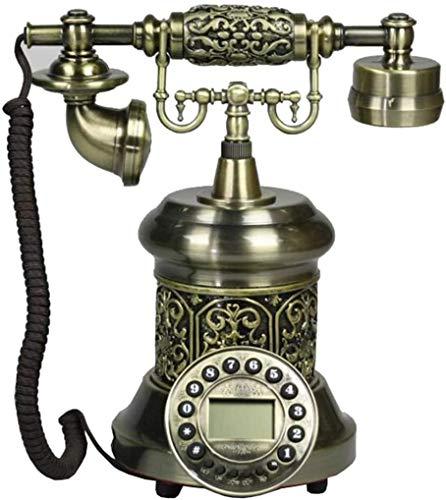 DHFDHD Teléfono Antiguo Teléfono Antiguo Viejo clásico de la Manera Europea rotatorio Retro del teléfono con Cable telefónico de la Vendimia con Cable Teléfono Teléfono con Cable (Color : B)