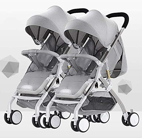 Check Out This Tandem Foldable Stroller, Easy Folding Baby Stroller with Side by Side Twin Seats,Dou...